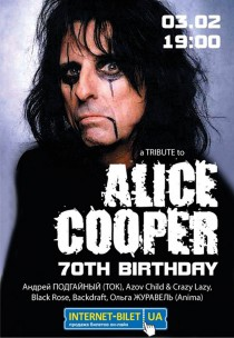 Alice Cooper 70 birthday